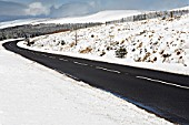 A470 by Beacons Reservoir, Brecon Beacons, Mid Wales.