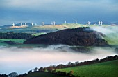 Windfarm above Tal-y-bont, Rheidol Valley, Wales. UK