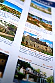 Property details in magazine