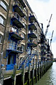 London regeneration. Victorian warehouses in the dockland area reconverted in expensive flats.