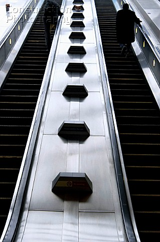 Escalator underground London UK