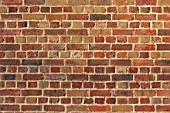 Decorative brickwork: English bond. This pattern comprising alternating courses of headers and stretchers. It is one of the strongest bonds as it has no internal straight joints.