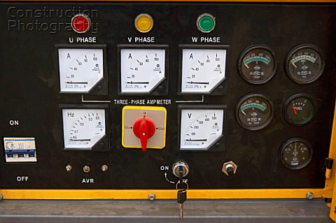 Plant control panel close up