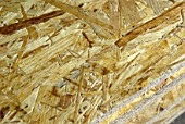 Detail of oriented strand - chipboard.