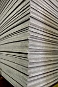 Stack of chipboard.