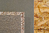 Detail of different patterns and chipboard