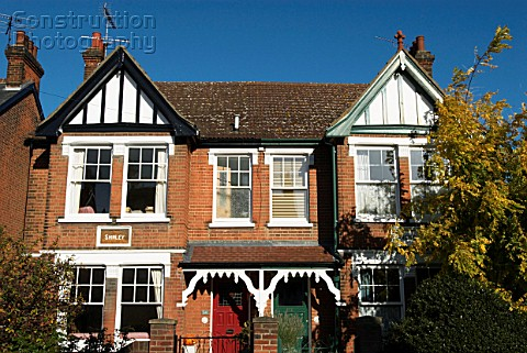 Edwardian terraced houses London UK