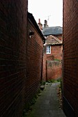 Back alley, Woodbridge, Suffolk, UK