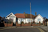Semi-detached 1930s bungalows, Ipswich, UK
