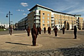 Sculptures surrounding the new development of Royal Arsenal, South East London, United Kingdom