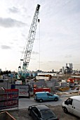 Construction of the Woolwich Arsenal DLR station, South East London, United Kingdom