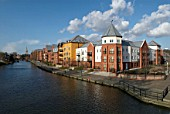 The redeveloped Riverside Quarter of Norwich, United Kingdom