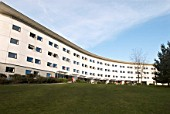 Halls of residence block on campus at Norwich University, United Kingdom