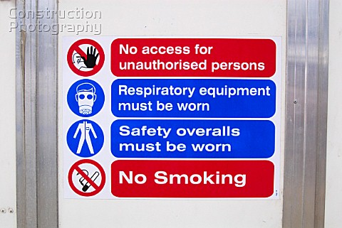 Asbestos Removal warning signage on site