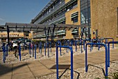 Cycle racks at Anglia Ruskin University, Chelmsford, Essex, UK
