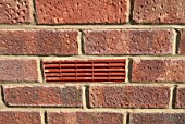 Air brick in wall, close up