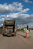 Landfill site entrance, Peterborough, UK