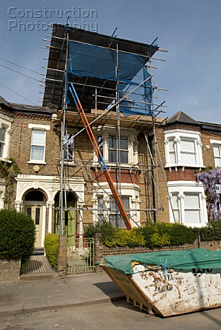 Scaffolding for loft conversion Clapham Southwest London United Kingdom
