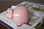 Piggy Bank and Property Listings