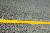 Yellow line road marking