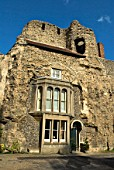 Ancient stone building, Bury St Edmonds, Suffolk, UK