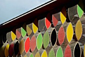 Exterior façade of the Stonebridge Nursery, designed by Alsop Architects, North London, UK