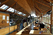 Award winning Norwich Cathedral Refectory made from indigenous English Oak from managed woodland, UK