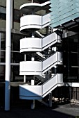 Spiral staircase on the Tanaka Business School, Imperial College, London, UK