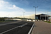 Approach road at Ebbsfleet International Station, Kent, UK