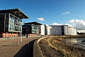 Accomodation for students of University of Essex, part of the Colne Harbour regeneration development, Colchester, UK