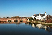 Village pond and bridge, Cattawade, Suffolk, UK