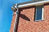 Street lighting on housing at the South Lynn Millennium community development in Kings Lynn, one of seven UK sites set up in conjunction with English Partnerships and Local Government (CLG) which provide innovative homes in an environmentally friendly surrounding