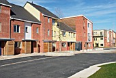 New housing at the South Lynn Millennium community development in Kings Lynn, one of seven UK sites set up in conjunction with English Partnerships and Local Government (CLG) which provide innovative homes in an environmentally friendly surrounding