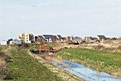 Construction work at the South Lynn Millennium community development in Kings Lynn, one of seven UK sites set up in conjunction with English Partnerships and Local Government (CLG) which provide innovative homes in an environmentally friendly surrounding