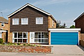 1970s detached house with double garage, Felixstowe, Suffolk, UK