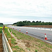 Construction of a bypass stretch of the A14 at Haughley, Suffolk, UK