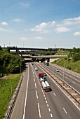 Interchange section where the M1 meets the M25, Hertfordshire, UK