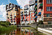 Apartments at the Greenwich Millennium Village, South-East London, UK