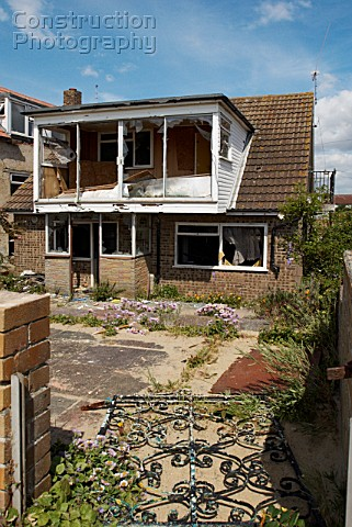 Abandoned and vandalised house ClactononSea Essex UK
