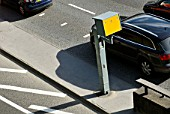 Yellow box speed camera, Central London, UK