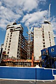 Nido student accomodation block under construction, Spitalfields, City of London, UK