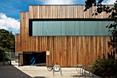 Westminster Academys Sports Centre, designed by Alford Hall Monaghan Morris at Westbourne Green, West London, UK