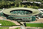No. 1 Court, All England Lawn Tennis Club, Wimbledon, London, UK, 2008, elevated view