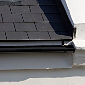 Guttering on roof of Victorian house