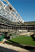 New roof trusses for new retractable roof of Centre Court, All England Lawn Tennis Club, Wimbledon, London, UK, 2008