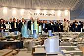 Investors at City of London stand at MIPIM, Cannes, France, 2009