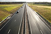 Revamped Haughley Bends Junction on the A14, Stowmarket, Suffolk, UK