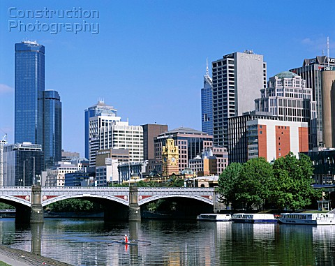 The Yarra river Melbourne Australia