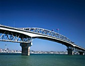 Auckland Harbour Bridge & Hauraki Gulf, Auckland, North Island, New Zealand.