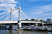 England, London, Chelsea, Albert Bridge